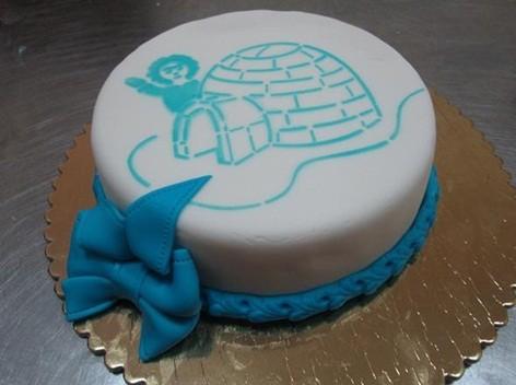 Торт из мастики круглый фото